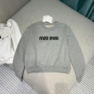 ミュウミュウ(miumiu)のミュウミュウ パーカー グレー(パーカー)