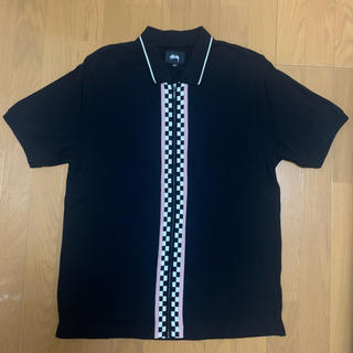 STUSSY - STUSSY zip polo shirt