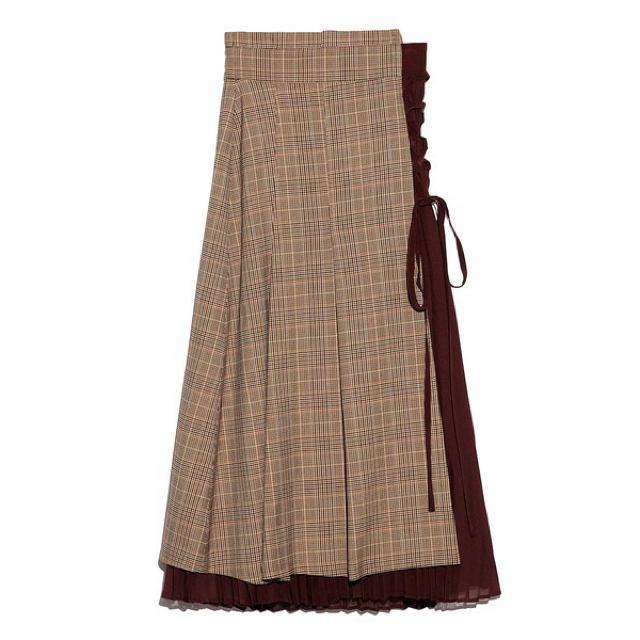 Lily Brown(リリーブラウン)のLily Brown 新品未使用タグ付 チェック柄プリーツスカート レディースのスカート(ロングスカート)の商品写真