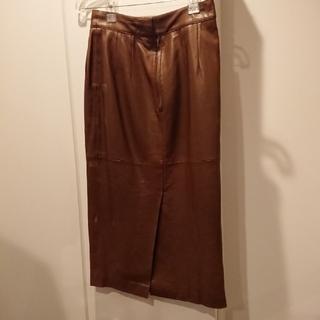 エルメス(Hermes)の革タイトスカート HERMES(ロングスカート)