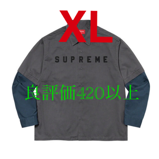 Supreme - supreme 2-Tone Work Shirt ワークシャツ XL grey
