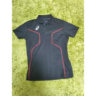 アシックス(asics)のアシックス asics メンズ トレーニング 半袖 ポロシャツ 黒 Mサイズ(ポロシャツ)