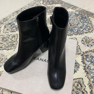 ジーナシス(JEANASIS)のJEANASIS ショートブーツ BLK Lsize(ブーツ)