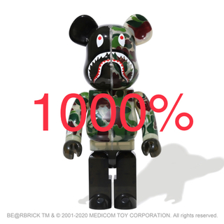 A BATHING APE - 1000% clear abc camo shark be@rbrick