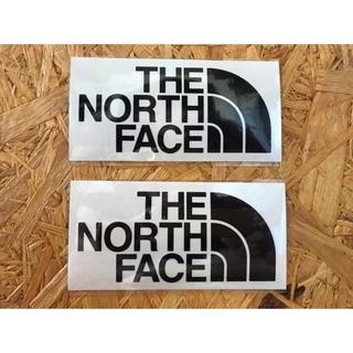 ザノースフェイス(THE NORTH FACE)のノースフェイス カッティングステッカー 黒 2枚 正規品(その他)
