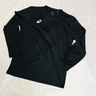 アシックス(asics)の新品 タグ付き未使用品 アシックス XLサイズ 長袖Tシャツ 黒ブラック(Tシャツ/カットソー(七分/長袖))