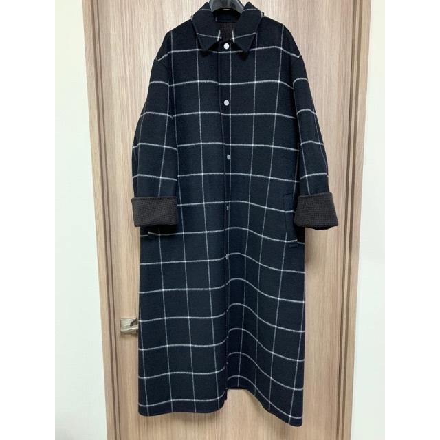 Drawer(ドゥロワー)のBlamink ブラミンク リバーシブル ダブルフェイス コート ドゥロワー レディースのジャケット/アウター(ロングコート)の商品写真
