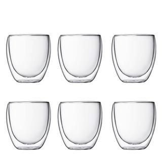 ボダム(bodum)の【新品未使用】6個 ボダム パヴィーナダブルウォール 250ml(グラス/カップ)