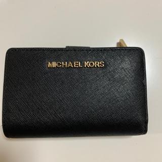 マイケルコース(Michael Kors)のMICHEAL KORS 2つ折り財布 ブラック(折り財布)