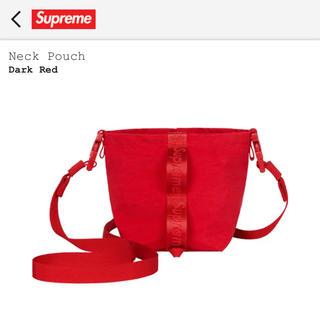 シュプリーム(Supreme)のSupreme neck pouch red シュプリーム ネックポーチ 赤(ショルダーバッグ)