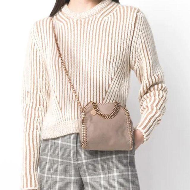 Stella McCartney(ステラマッカートニー)のStella McCartney ファラベラ ベージュ ミニ レディースのバッグ(ショルダーバッグ)の商品写真