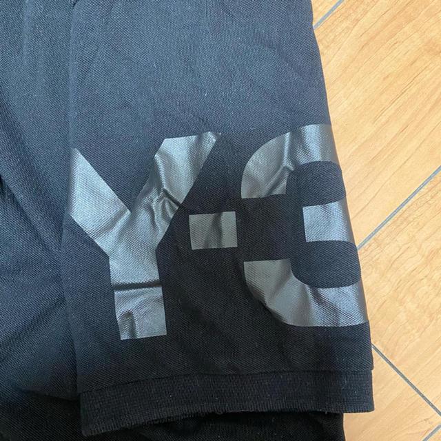 Y-3(ワイスリー)のY-3 ポロシャツ 黒 XL ヨウジヤマモト メンズのトップス(Tシャツ/カットソー(半袖/袖なし))の商品写真