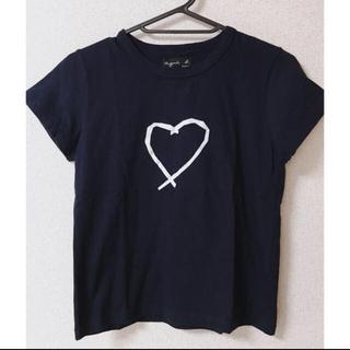 agnes b. - アニエス・ベー ハートプリントTシャツ