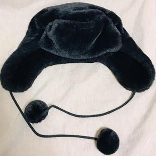 エイチアンドエム(H&M)のH&M 帽子 フライトキャップ 黒(その他)