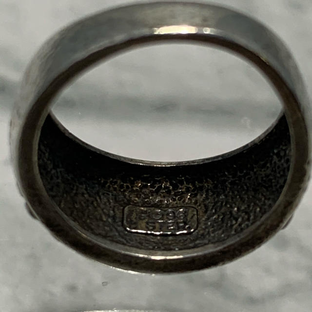 Maison Martin Margiela(マルタンマルジェラ)のヴィンテージ シルバージュエリー スターリング スタッズ リング オーバーレイ メンズのアクセサリー(リング(指輪))の商品写真