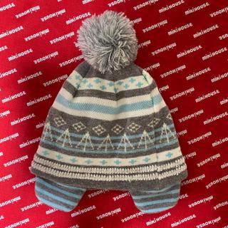 アカチャンホンポ(アカチャンホンポ)のニット帽 (グレー×水色)(帽子)
