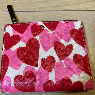 ケイトスペードニューヨーク(kate spade new york)のケイトスペード Heart Party 折り財布 ハート柄 二つ折り財布(財布)