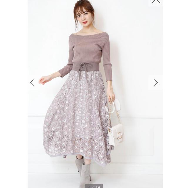専用⚠️リラ♡ベルト付きイレヘムレーススカート レディースのスカート(ロングスカート)の商品写真