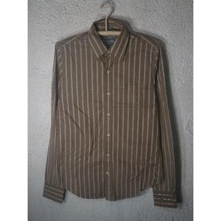 アバクロンビーアンドフィッチ(Abercrombie&Fitch)のo1495 アバクロ フィッチ 長袖 ストライプ デザイン シャツ(シャツ)