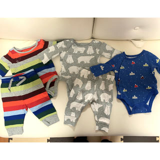 ギャップ(GAP)のベビーギャップ セットアップ 新生児〜3ヶ月 ロンパース 沐浴ガーゼ(ロンパース)