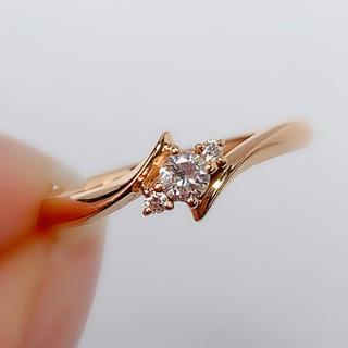 4℃ - ヨンドシー 4℃ ダイヤモンド k18PG リング 指輪