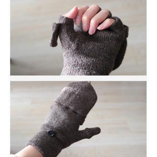 ムジルシリョウヒン(MUJI (無印良品))の【新品未使用】無印良品 半指手袋 タグ付き(手袋)