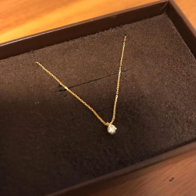 agete(アガット)の[レイン様]一粒ダイヤネックレス レディースのアクセサリー(ネックレス)の商品写真