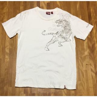 オニツカタイガー(Onitsuka Tiger)の※美品※ Onitsuka Tiger Tシャツ Lサイズ カラー:オフホワイト(Tシャツ/カットソー(半袖/袖なし))