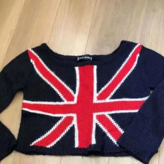 セシルマクビー(CECIL McBEE)のCECIL McBEE セシルマクビー ニット ネイビー 国旗 イギリス(ニット/セーター)