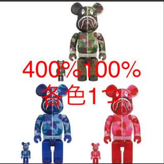 メディコムトイ(MEDICOM TOY)のBE@RBRICK CLEAR ABC CAMO SHARK 100%&400%(その他)