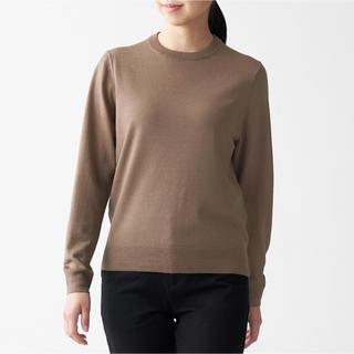 ムジルシリョウヒン(MUJI (無印良品))の無印良品   ウールシルク 洗えるクルーネックセーター  L 2点(ニット/セーター)
