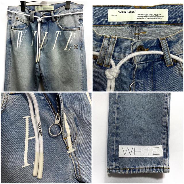 OFF-WHITE(オフホワイト)のOFF WIHTE オフホワイト デニム パンツ ジーンズ 入手困難 レア 新品 メンズのパンツ(デニム/ジーンズ)の商品写真