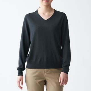 ムジルシリョウヒン(MUJI (無印良品))の無印良品   ウールシルク 洗えるクルーネックセーター  婦人L 他(ニット/セーター)