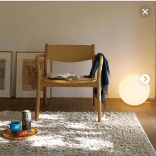 ムジルシリョウヒン(MUJI (無印良品))の無印良品 フロアライト丸・L(一年間の保証、LED電球付き)(フロアスタンド)