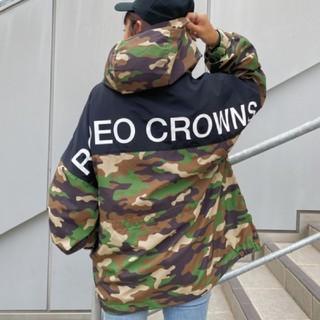 ロデオクラウンズワイドボウル(RODEO CROWNS WIDE BOWL)の新品 迷彩(男女兼用)早い者勝ちノーコメント即決しましょう!でも同梱で値引き可能(ナイロンジャケット)