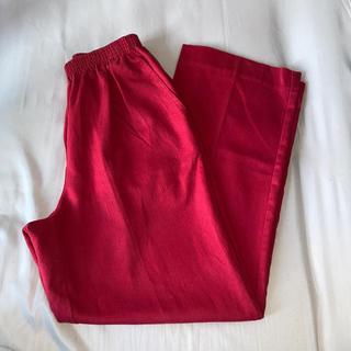 ロキエ(Lochie)の古着 RED ボトムス cotton polyester(その他)