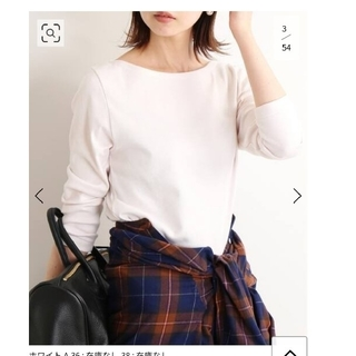 IENA - IENA AURALEE オーラリー ボートネックtシャツ ピンク