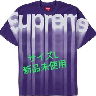 Supreme - Supreme bleed logo s/s top  紫L