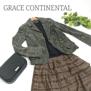グレースコンチネンタル(GRACE CONTINENTAL)のGRACE CONTINENTAL グレースコンチネンタル デニムジャケット(Gジャン/デニムジャケット)