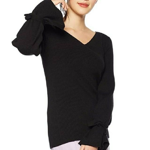 Mila Owen(ミラオーウェン)のMilaOwenミラオーウェン リボンスリーブニット レディースのトップス(ニット/セーター)の商品写真