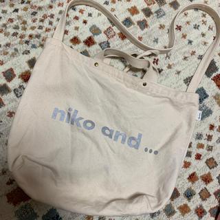 ニコアンド(niko and...)のniko and... トートバッグ 白(トートバッグ)