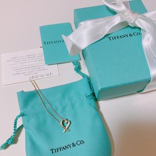 Tiffany & Co. - 美品!証明書付き ティファニー ラビング ハート ペンダント ネックレス