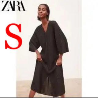 ZARA - 新品・未使用 ZARA ラメ ロングワンピ ロングカーディガン
