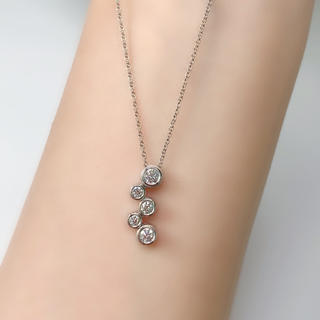 Tiffany & Co. - ティファニー Tiffany ネックレス バブル ダイヤモンド 5P PT950