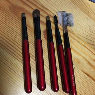 熊野筆 コスメ堂 新品 5本セット オススメ筆(ブラシ・チップ)