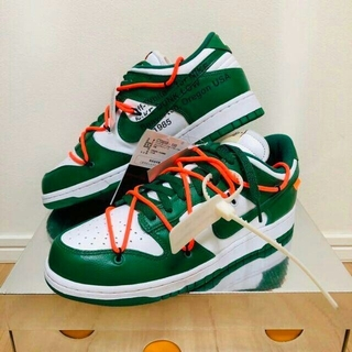 オフホワイト(OFF-WHITE)のNike×Off-White Dunk Low GREEN CT0856-100(スニーカー)