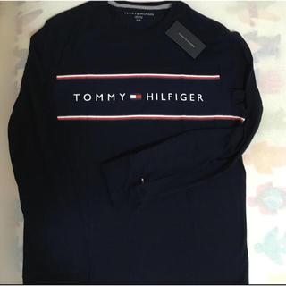 トミーヒルフィガー(TOMMY HILFIGER)の新品未使用[S]トミーヒルフィガー メンズ 長袖Tシャツ ネイビー(Tシャツ/カットソー(七分/長袖))