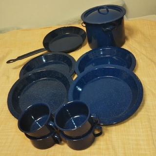 【お値引き】キャンプ用 食器&調理器具セット(食器)