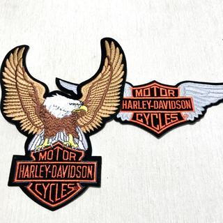 ハーレーダビッドソン(Harley Davidson)の週末限定さらにお値引き中❗️Harley-Davidson刺繍ワッペン2枚セット(その他)