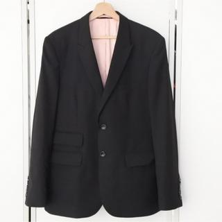 グッチ(Gucci)のグッチ ジャケット ブラック 52 ピンク ミケーレ ビー エンブロイダリー(テーラードジャケット)
